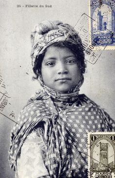 Moroccan  tribal girl circa 1905
