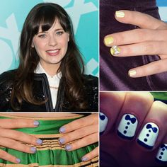 I'll just leave you to swoon over Zooey and also her nails :)