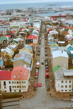 Downtown Reykjavík, Iceland as seen from the top of Hallgrímskirkja.