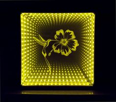 Engraved and LED lighted infinity mirror. – Sand Carved Heirlooms