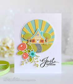 Spring Just Because Card by Kay Miller for Papertrey Ink (November 2015)