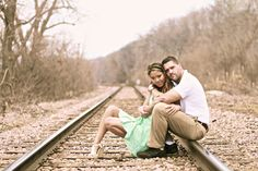 Classic, sitting on the railroad tracks shot, love how it turned out with the perspective and focal point- #LAPhotography