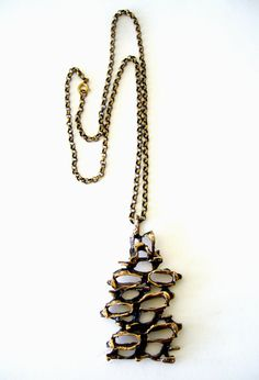 Norwegian Abstract Modernist Knut Paulsen Bronze Necklace $135 by 20thObsession