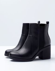 BSK elastic heeled ankle boots. Discover this and many other products at Bershka with new products every week