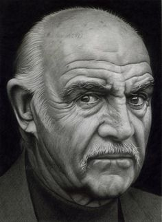 Here is a close up on my old man chaos pencil drawing it for Sean connery tattoos