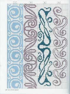 Just Cross Stitch Patterns (Can use this in knitting too) Cross Stitch Bookmarks, Just Cross Stitch, Cross Stitch Borders, Cross Stitch Charts, Cross Stitch Designs, Cross Stitching, Cross Stitch Embroidery, Embroidery Patterns, Cross Stitch Patterns