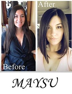 Maysu Natural Bob Hairstyle Shoulder Length Lace Front Wigs for Women or Girls