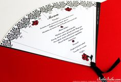 Spanish Fans Wedding Theme - Menu 3 | 6 / 6