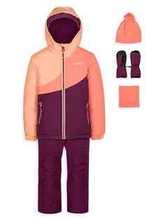 Cart - thebay.com Scarlett Rose, Suspender Pants, Snow Suit, Polar Fleece, Neck Warmer, Suspenders, Knitted Hats, Kids Outfits, Purple