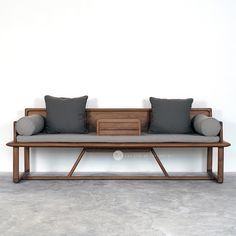 Ocean bed pure solid wood sofa Chinese Ming heart series