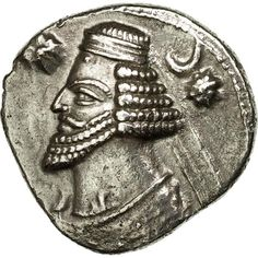 Unfortunately, this collectible item is no longer available ! ➽ Ask us to find it for you : Coin Parthia (Kingdom of) Orodes II Drachm Ekbatana Silver. Parthian Empire, 50th, Oriental, Coins, Silver, Inspiration, Collection, Biblical Inspiration, Coining