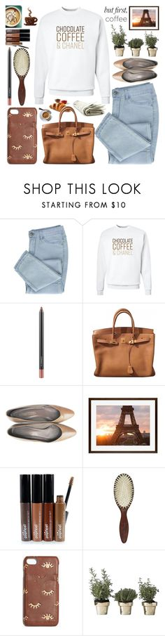 """Caffeine Fix:Coffee Break"" by grozdana-v ❤ liked on Polyvore featuring Chanel, MAC Cosmetics, Hermès, Pottery Barn, Christophe Robin, Madewell, Skultuna and coffeebreak"