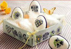 Вышитые пасхальные яйца | 9 фотографій