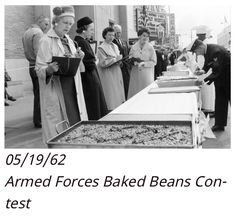 5/19/62 Armed Forces Day baked beans contest