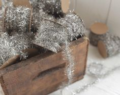 Tinsel Garland - Silver Vintage Style Christmas Trim, 12 Foot Spool by smilemercantile on Etsy https://www.etsy.com/listing/245954221/tinsel-garland-silver-vintage-style