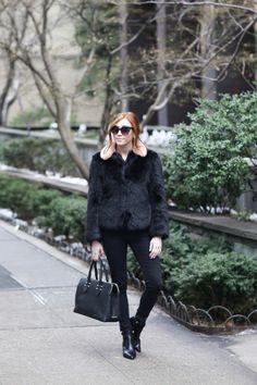GiGi New York | Retro Flame Fashion Blog | Black Parker Satchel