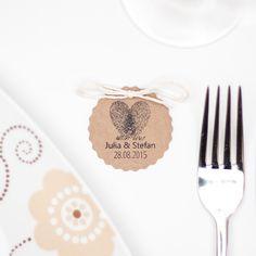 Stempel | Hochzeit Fingerabdruck | Datum & Name   von boxDesign auf DaWanda.com