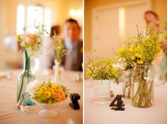 Preppy & Eclectic Southern Wedding    Great flowers