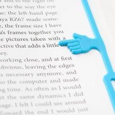 Marcador de Páginas com Dedo Indicador em Silicone (Laranja) 12,90