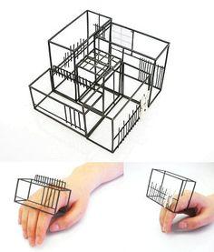 "Mariko Sumioka, work inspired by the architecture of her native Japan - the ""tea house"" series"