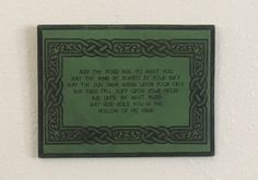 Irish Bless Decor.  Irish Blessing Quote by ASparkofSnark on Etsy