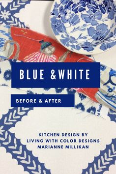 Blue and White Kitch