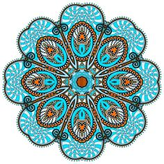 Stock vector of 'mandala, circle decorative spiritual indian symbol of lotus flower, round ornament pattern, vector illustration'