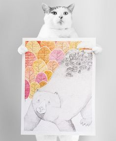 "my cat presents an illustration, and his name is ""Berlioz Patafoin"""