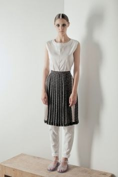 Skirt with small dots | Adelina Ivan Studio