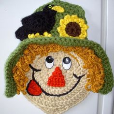 "Crochet 15""  Scarecrow. My own design. No pattern <-- The original pinner...not me."
