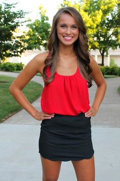 The Pink Lily Boutique - Black Scalloped Skirt, $28.00 (http://www.thepinklilyboutique.com/black-scalloped-skirt/)
