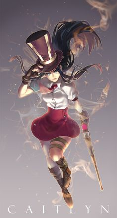 "ticketleng: "" Caitlyn with dragon buffs. """
