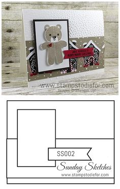 Stampin Up Cookie Cutter Christmas Stamp Set & Punch, Christmas Card,  www.stampstodiefor.com