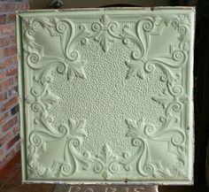 24+Antique+Tin+CeilingTile++Mint+Green+Paint+by+VINTAGEHOMEACCENTS