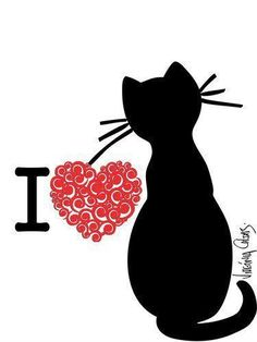 I  <3  Cats *☆✞Even a child is known by his actions, by whether his conduct is pure and right. Proverbs 20:11✞*☆: Cats, Cat Art, I Love Cats, Kitten, Heart Cat, Black Cats, Cat Lady, Animal