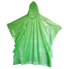 """Emergency Rain Poncho, Rectangular with Hood. Now in green! Great for festivals, sporting events, hiking, first aid kits. Low price and very compact. The low price makes them affordable as a giveaway! Our economy hooded rain poncho meets your needs! Fitting easily into a pocket, purse, glove or lunch box, each individually packaged poncho comes in a zip lock style bag which measures 3.5"""" by 4.5"""" by a slim .625"""" wide. #mcrmedical #rainponcho"""