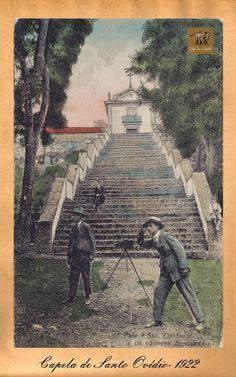 FAFE EM POSTAIS: POSTAIS DE 1922 Partilhado por Jesus Martinho, Escadaria de acesso à Capela de Santo Ovídeo - Fafe