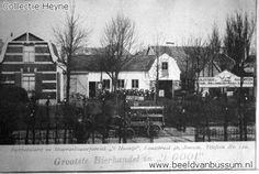 Foto 1905, De bierbottelarij mineraalwater fabriek t' Haantje vestigde zich in 1902 als bierbrouwerij aan de Landstraat 46