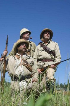 Just found a wicked adventure reenactment group on Flickr called the Pith Helmet Adventurers. Awesome beardage!