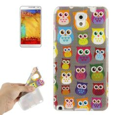 Samsung Note 3 Owl, uil TPU cover, hoesje, case