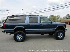 Independent dealer specializing in lifted 4 wheel drive trucks and SUVs. Davis Auto Sales is Virginia's off road truck, SUV and Mini Van Headquarters. We specialize in lifted pickups, cargo,utility. Big Chevy Trucks, Chevy 4x4, Ford Pickup Trucks, Gm Trucks, 70s Cars, Large Truck, Chevrolet Suburban, K5 Blazer, Unique Cars