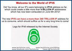 IPV6 340 Trillion & counting INTERNET