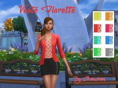 Florette jacket by Chanchan24 at Sims Artists via Sims 4 Updates