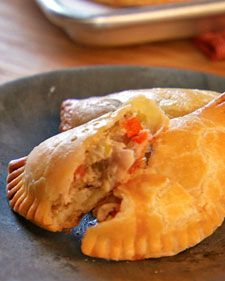 Homemade Chicken Pot-Pie Turnovers. Can be frozen so no excuses for nasty-hot pocket-y-stuff when you're pressed for time!