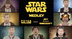 Star Wars Medley - The Force Awakens - feat.yah freeken skydoesminecraft is singing in this lol. it is really well done and pretty funny toward end of vid. Kinds Of Music, Music Is Life, Disney Medley, Peter Hollens, Free Songs, Theme Days, Geek Out, Popular Music, Far Away