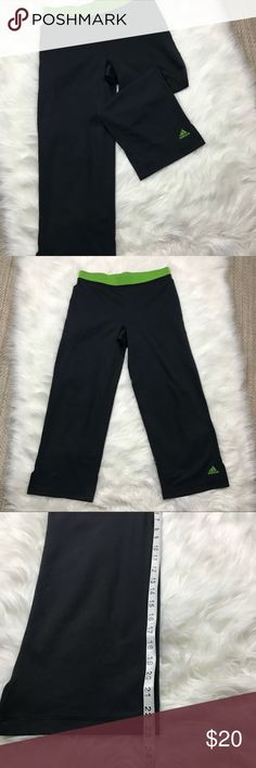 Adidas Cropped Joggers - Size Medium Super cute sporty cropped workout pants by Adidas. See length in pic. There are no rips tears or stains. adidas Pants Track Pants & Joggers