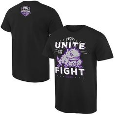 TCU Horned Frogs Unite For The Fight T-Shirt - Black - $16.99