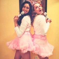 """Pin for Later: 36 Real People Who Nailed Their Celebrity Halloween Costumes Sophia Grace and Rosie The Ellen Show superstars Sophia Grace and Rosie can be captured with pink tutus, microphones, and a killer rendition of """"Super Bass."""""""
