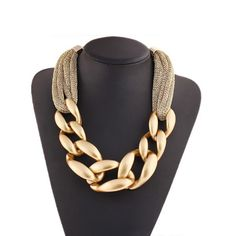 #fashion #moda #accessories Chunky choker cha... is now in stock. http://modatendone.co.uk/products/chunky-choker-charm-knit-necklace-statement-big-chunky-rings-costume-vintage-jewelry?utm_campaign=social_autopilot&utm_source=pin&utm_medium=pin