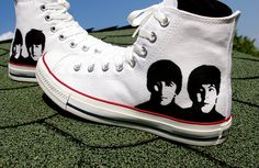 SALE 20 percent off  The Beatles Converse shoes  by BaconFactory, $100.00